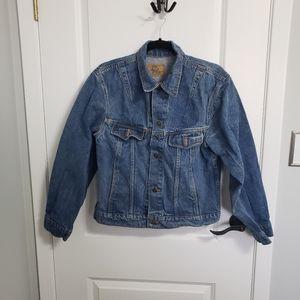 VINTAGE PLAIN POCKETS Blue Denim Jacket